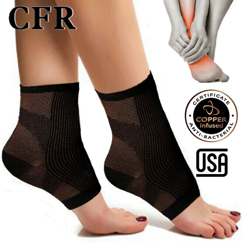 copper compression socks ankle support arch brace