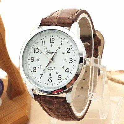 $0.22 - Gentleman Watch Elegant Analog Luxury Sports Leather Strap Quartz Wrist Watches
