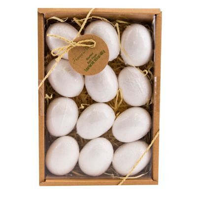 12 Bad Bomben (Badekugeln Eier 12er Geschenkset, Badebomben 12 x 40 g in Geschenkbox Badezusatz)