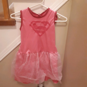 Super girl dress with cape