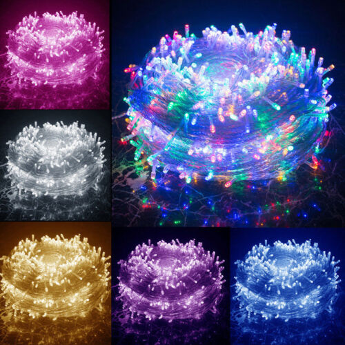 Waterproof String Fairy Lights 100-500 LED Plug in Christmas
