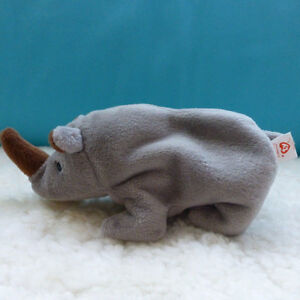 Brand new with tags TY Beanie Babies Rhino plush toy