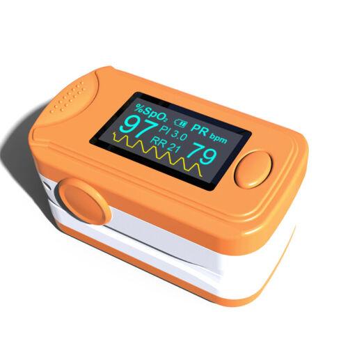 Fingertip Pulse Oximeter+Audio Alarm & Pulse Sound - SPO2 PR PI Respiration Rate