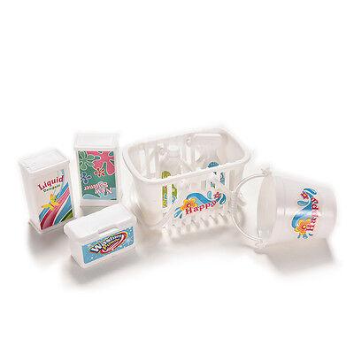 7 Teile / satz Küche Reinigung Requisiten Mini Puppe Zubehör Baby SpielhbvG W0