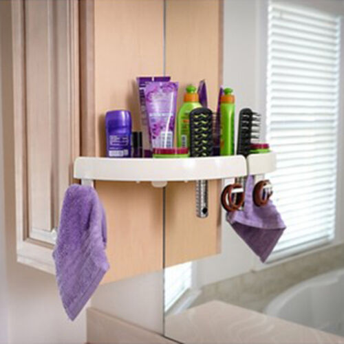 Snap Up Corner Shelf Bathroom Rack Triangle Polymer Grip