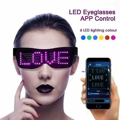 DJ LED Glasses Light Up Glow Flashing Sunglasses Eyewear Nightclub Party -