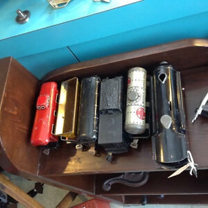 Nice old wind up train & track, many other items