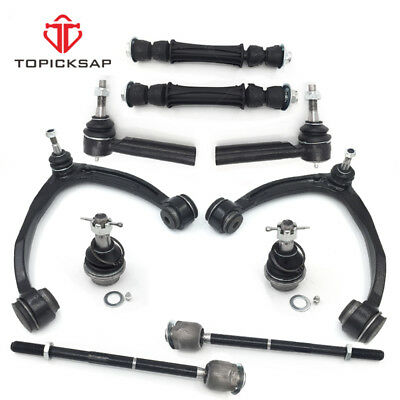 10pc Front Upper Control Arm Tie Rod Sway Bar Ball Joint For Silverado Sierra