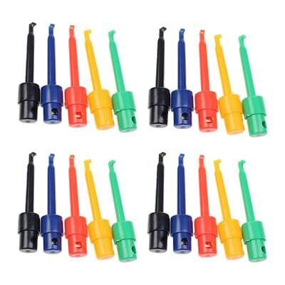 20pcs Wire Kit Test Hook Clip Grabbers Probe For Multimeter Arduino Smtsmd Q3