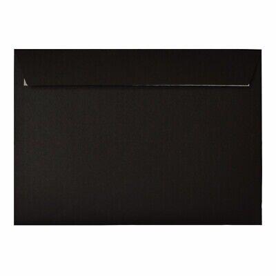 Design Range Black Branded Envelopes 20xC5 162x229mm Peel & Seal Mail Postal