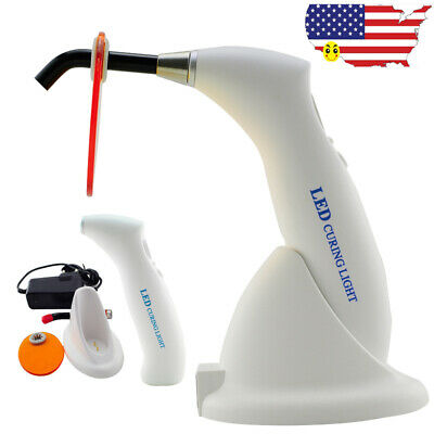 Us Ce Dental Cordless Led Curing Light Lamp Gun Type Fast Cure Teeth 10w 2000mw
