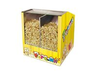 Popcorn machine - heated storage - Yellow Commercial