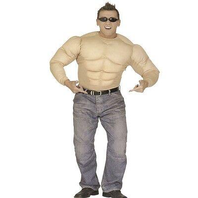 KOSTÜM MUSKELSHIRT Gr. S, M, L, XL - PREISHIT- Karneval Muskelprotz (Muskel Kostüm)