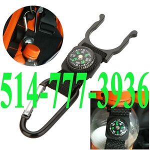 Water Bottle Holder Clip Strap With Compass Camping Hiking Outdo