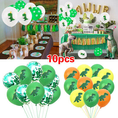 10pcs 12 inch Dinosaur Latex Balloon Children Birthday Party Forest Theme - Dinosaur Party