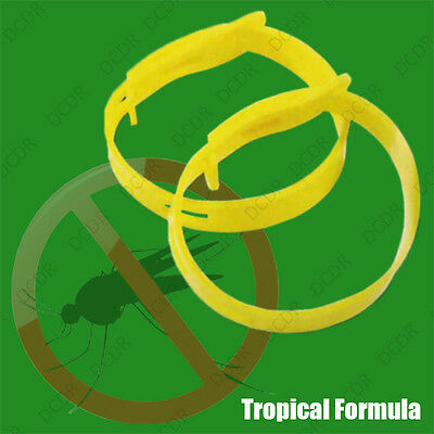 8 x Regolabile Zanzara Repellente Insetti Caviglia Polso Bracciali DEET libero 2