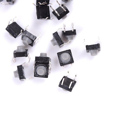 20x 8x8x5mm 4pin Tactile Push Buttons Micro Switch Direct Self Reset Soundlesssn