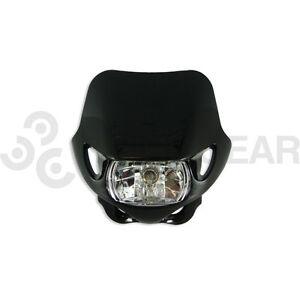 Black Enduro Front Head Light 12V Halogen Suit Dirtbike Trail Bike Motorcycle