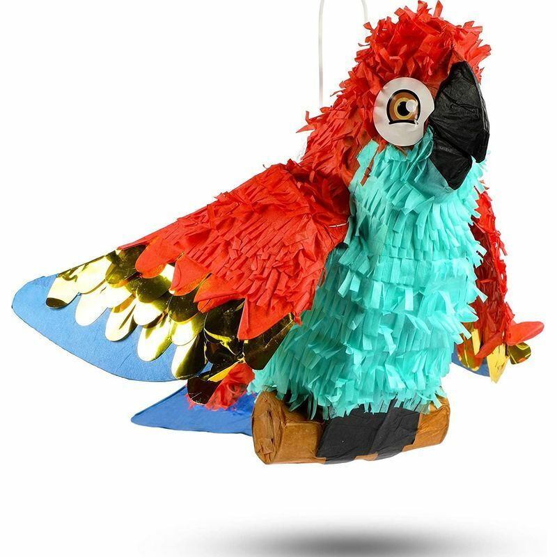 Small Parrot Pinata for Pirate Birthday Party (14.5 x 14 x 6 In)