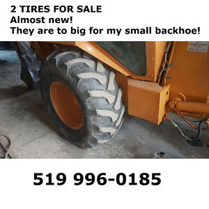 Almost NEW 2 Tires for Case Backhoe L, M, N series