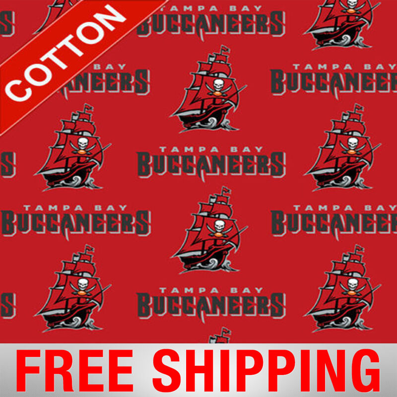 tampa bay buccaneers nfl cotton fabric 60