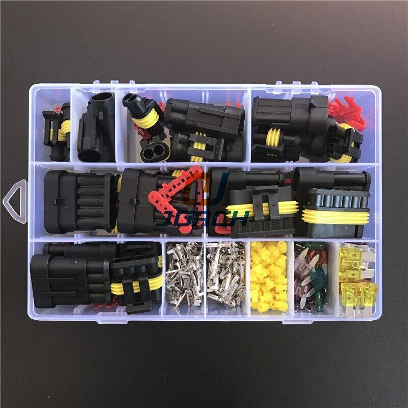 242 Pcs Superseal AMP Tyco Waterproof 12V Electrical Wire Connector Sets Kits