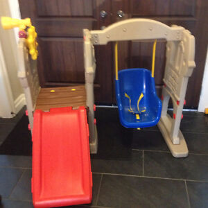 Little Tikes Swing Along Castle slide and climber like new s