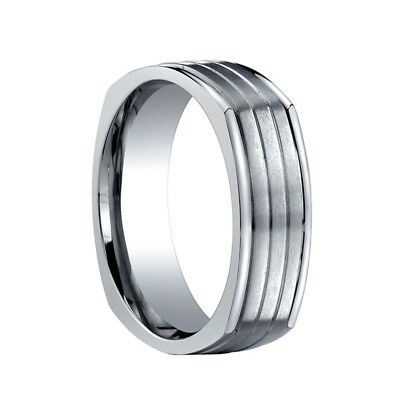 Titanium Wedding band Ring Men's Benchmark Size 9.5 Benchmark Titanium Wedding Ring