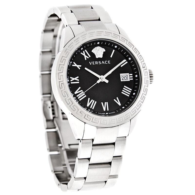 Versace Landmark Mens Black Dial Swiss Quartz Watch P6Q99GD008S099