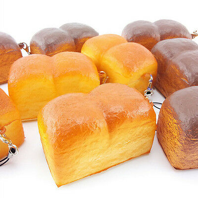 Yummy Kawaii Squishy Loaf Cell Phone Charm Soft Scrent Bread Bag Strap -US