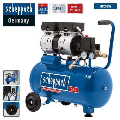 Scheppach HC24Si Silent Ölfrei Kompressor Druckluft Flüster Leise Doppelzylinder