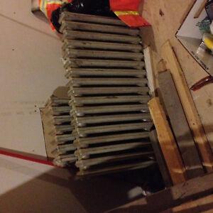 Cast iron radiation heaters.