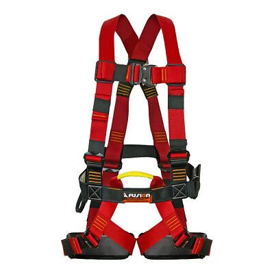 Fusion Climb Leap Of Faith Full Body Zipline Harness 23kN M-L Red Black