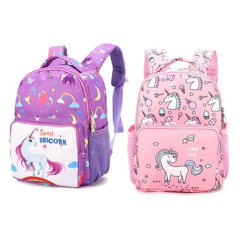 US Kindergarten Unicorn Little Girls Boys Kids Bags Book Bac