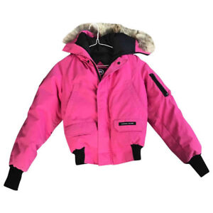 Canada Goose Bomber Jacket in Pink, Lady XS