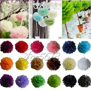 20-Tissue-Paper-Pom-Poms-Wedding-Birthday-Party-Home-Decoration-Favor-8-034-10-034-15-034