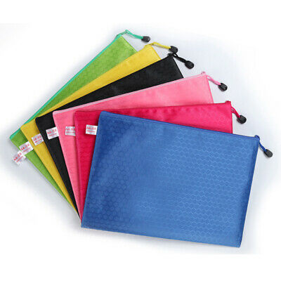 A4 File Document Holder Envelope Wallet Zip Briefcase Folder Waterproof Bag New