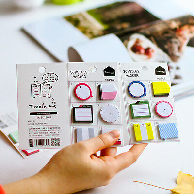 Mini Memo Pad Notebook Sticky Note Portable Stationary Supplies Random Color
