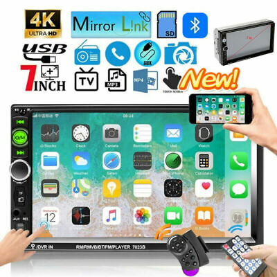 "7"" 2 DIN Autoradio Touch Screen Bluetooth Lettore MP5 Stereo FM Radio USB AUX TF"