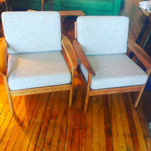 MCM Lounge Chairs, possibly teak, excellent condition
