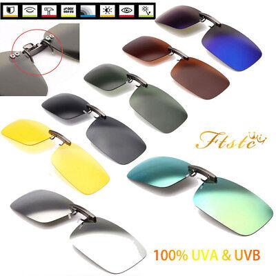 Aviator Sonnenbrille (Unisex Retro Rechteckig Sonnenbrille Clip-On Polarisierte UV400 Flip Up Brillen)