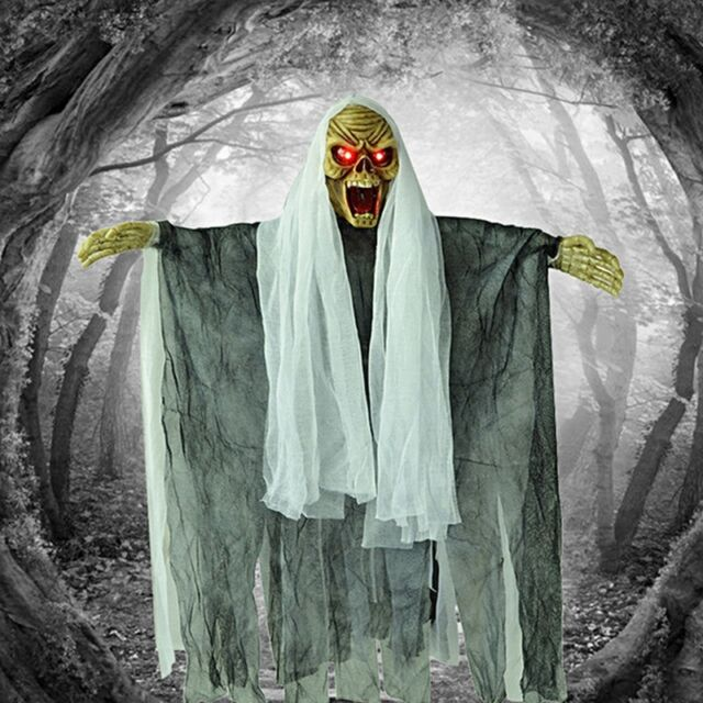Halloween Creepy Haunted Voice Control Hanging Ghost Door Decoration House Props