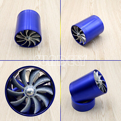 New MODIFICATION AIR FILTER/INTAKE TURBINE SUPERCHARGER/TURBO FAN CAR FUEL SAVER