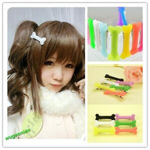 3-PCS-Fashion-Vivid-Dog-Bone-Hair-Pin-Side-Band-Clip-Clips-Lady-Hairpin-Colorful