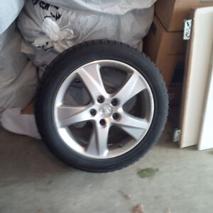 witer tires and rims -with sensors London Ontario image 1