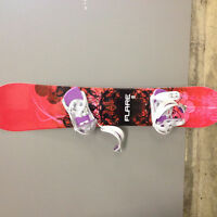 Brand New Snowboard, Bindings, and Boots (size 9)