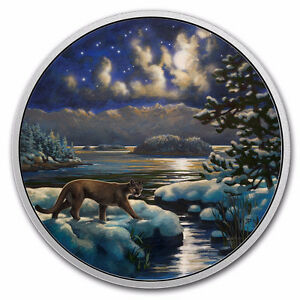 2017 $30 ANIMALS IN THE MOONLIGHT COUGAR COIN #696