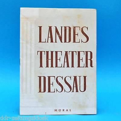 Landestheater Dessau | Moral  | DDR | Programm  Spielzeit 1953/54
