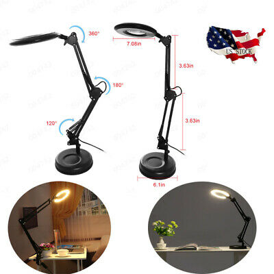 Magnifier Task Lamp Adjustable Table Lamp Desktop Or Clamp-On Mounting (Adjustable Task Table Lamp)