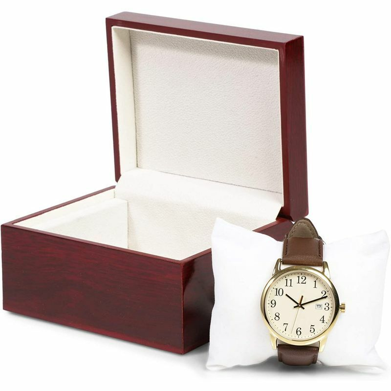 Single Slot Wood Watch Box Storage Holder Organizer Jewelry Display Case